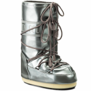 Moon Boot Vinyl Met Silver Kids
